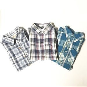 Other - Lot of 3 Plaid Checker Button Front Kids Shirt 6/7